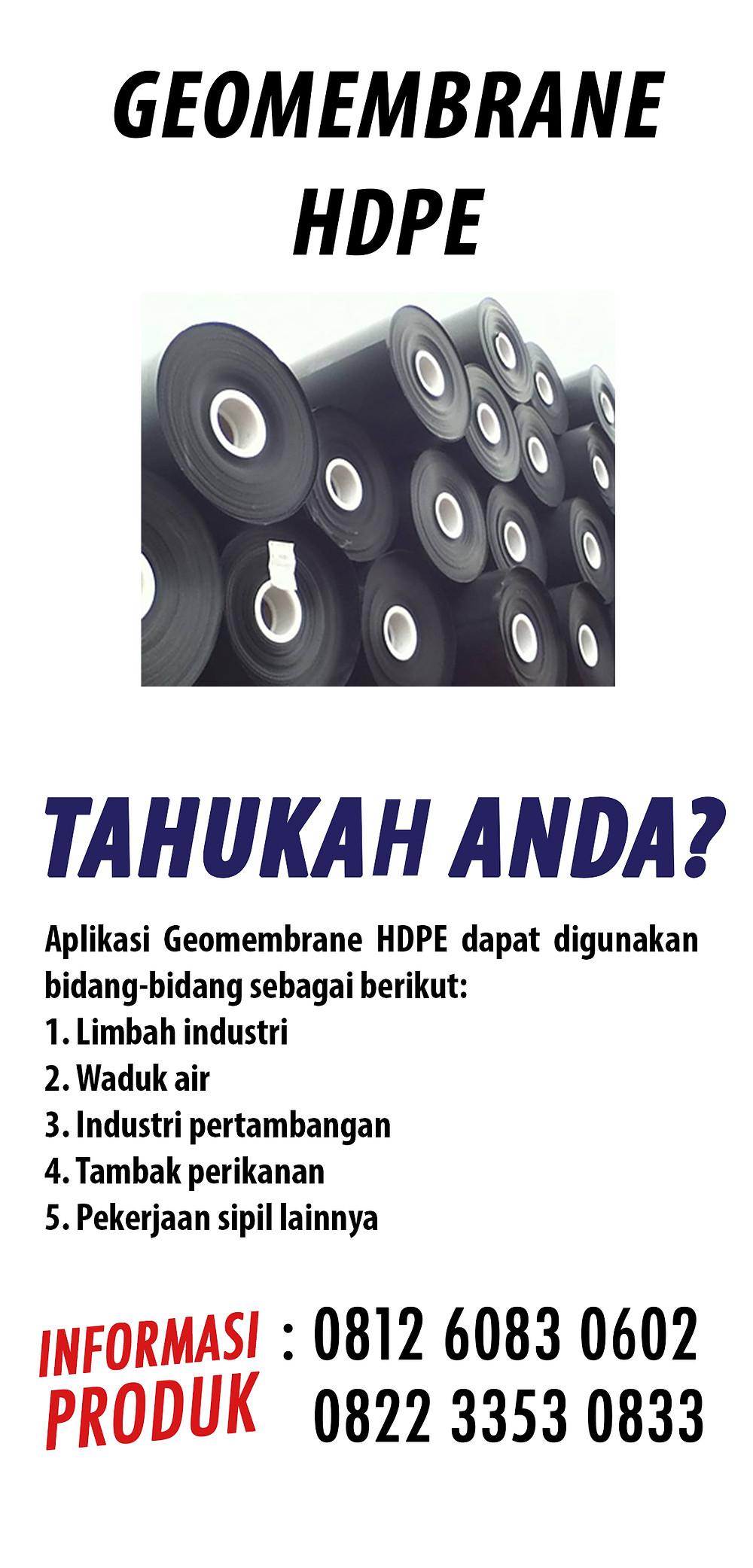 jual Geombrane HDPE tambak