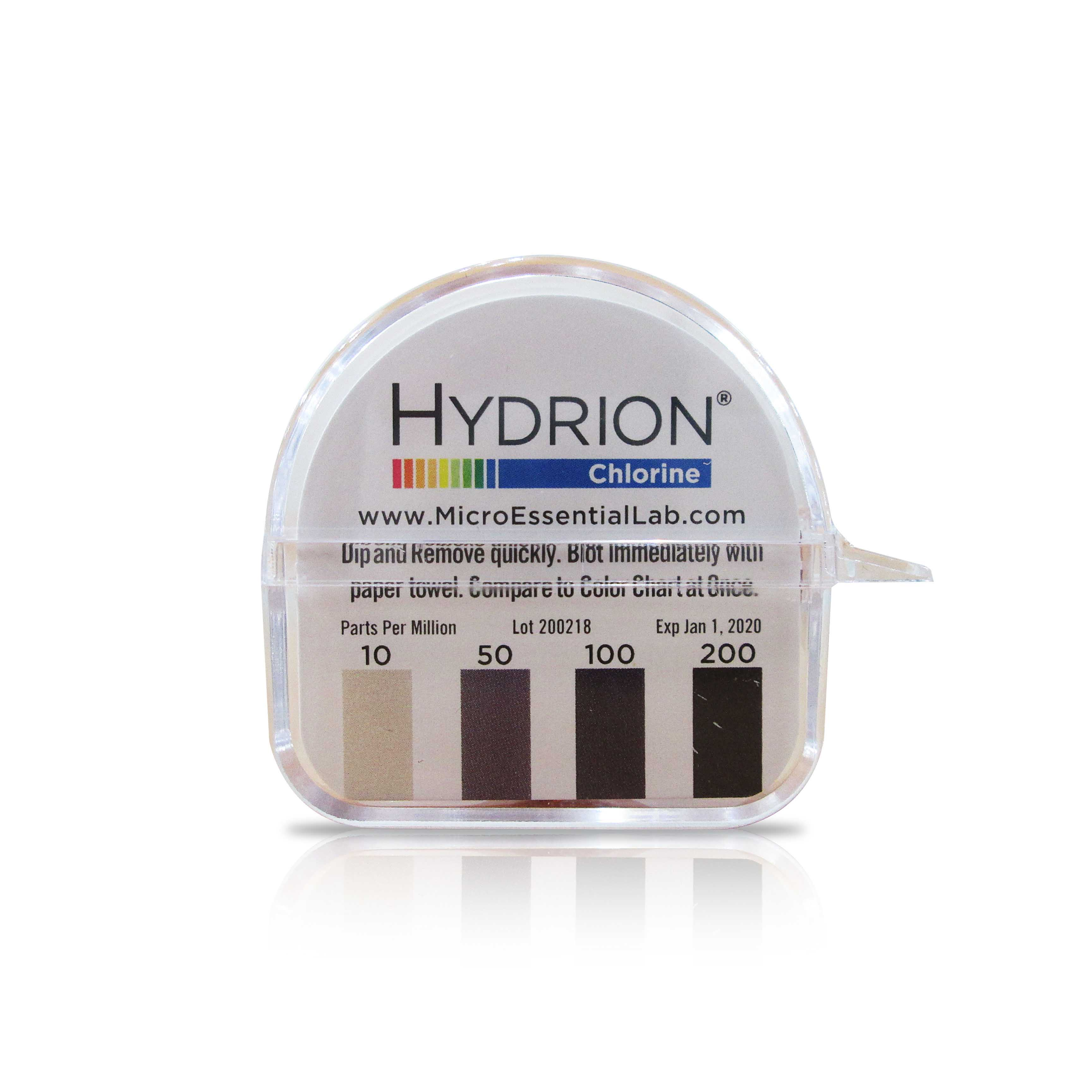 Hydrion chlorine