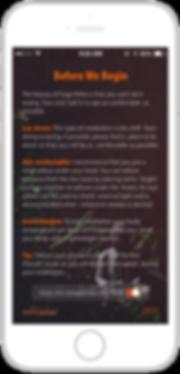 Mockup of Yoga Nidra app on iPhone