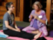 students practing Yoga Nidra script with Kamini Desai at the Amrit Yoga Institute