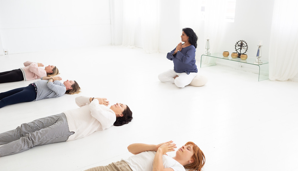 Kamini Desai teaching I AM Yoga Nidra™ certification course at Prana House, Australia