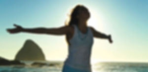woman feeling joyful and free, yoga and meditation
