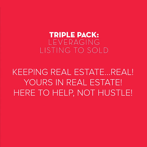 Triple Pack: Leverage Listings to Sold, Letter packs