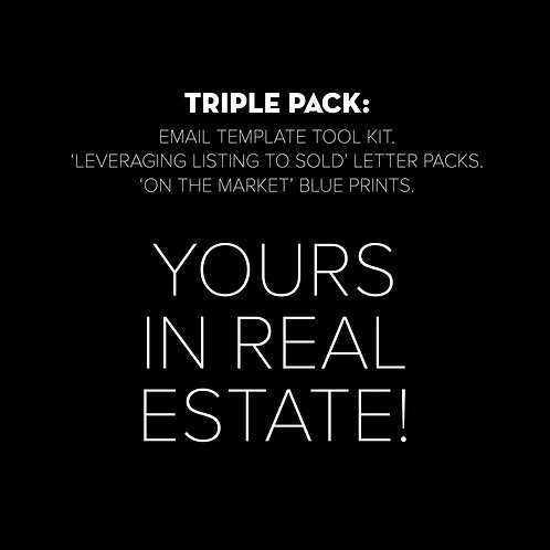 Triple Pack: Email Templates   Letter Pack   Blueprint - Yours in Real Estate