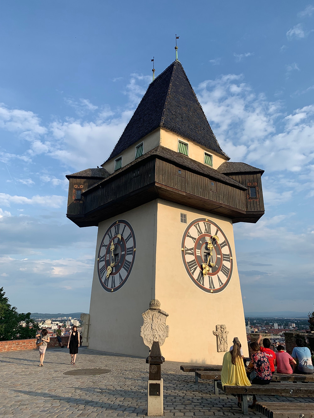 Clock Tower in Graz, Austria