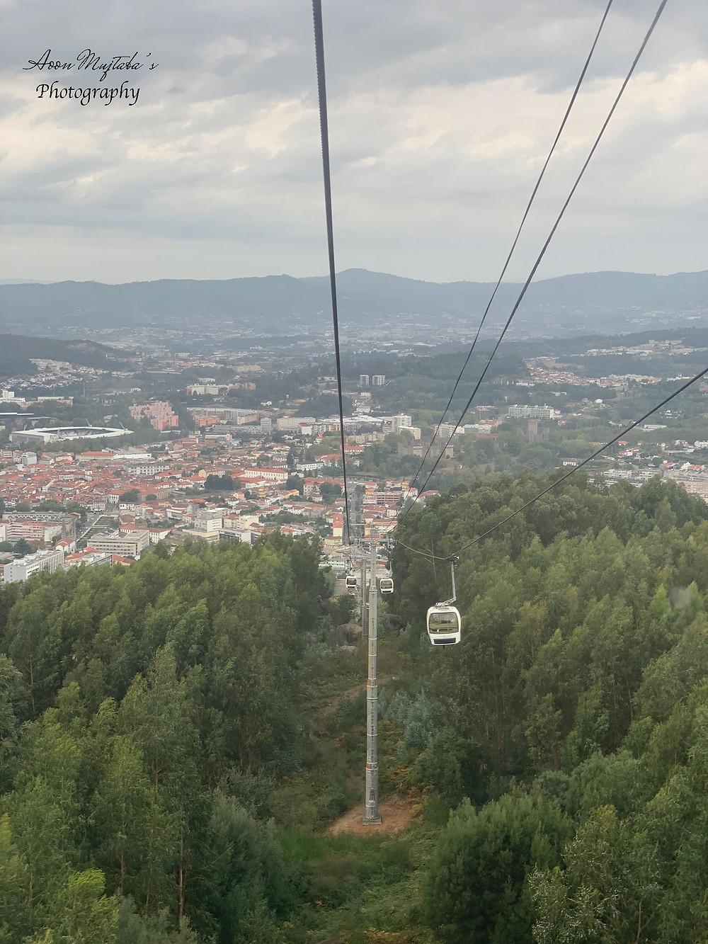 Teleférico in Guimarães, Portugal