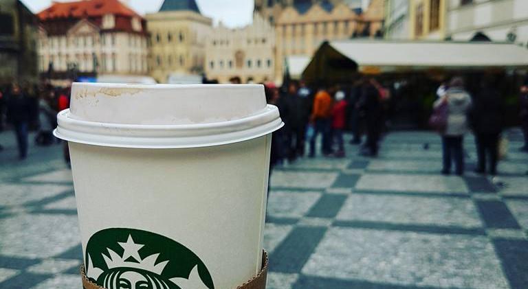 Starbucks in Prague, Czech Republic