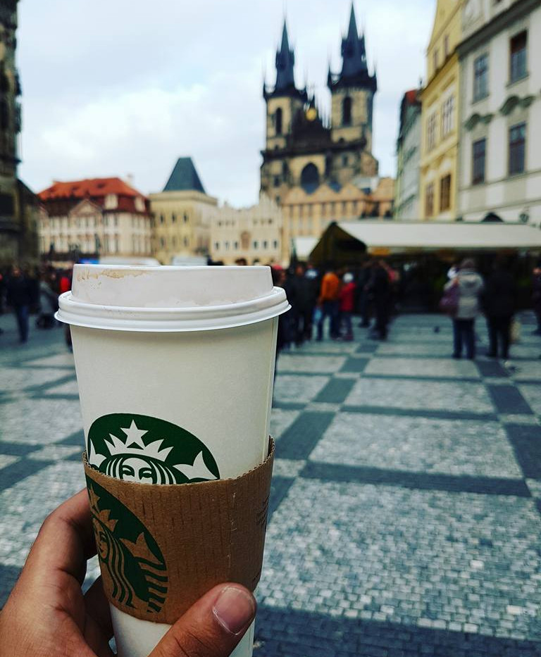 Starbucks in Prague, Czech Republic