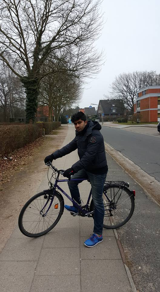 Cycling in Hamburg, Germany