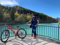 Cycling in Fussen, Bavaria, Germany