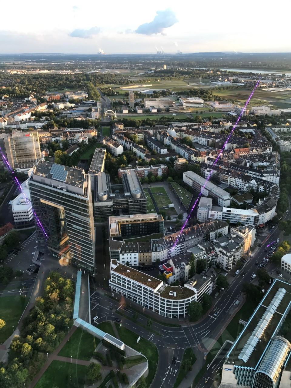 Panoramic View of Dusseldorf City from Rhine Tower