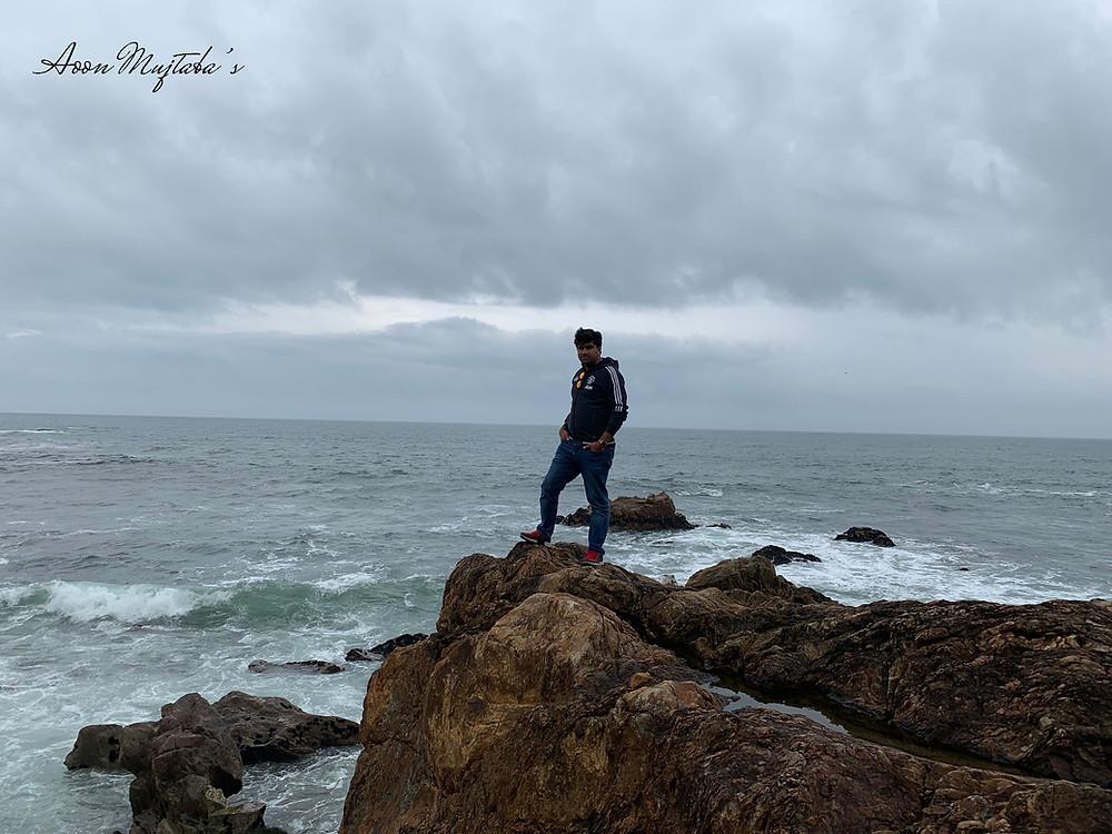 Atlantic Ocean beach near Porto, Portugal