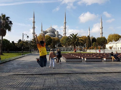 Blue Mosque in Istanbul, Turkey._.