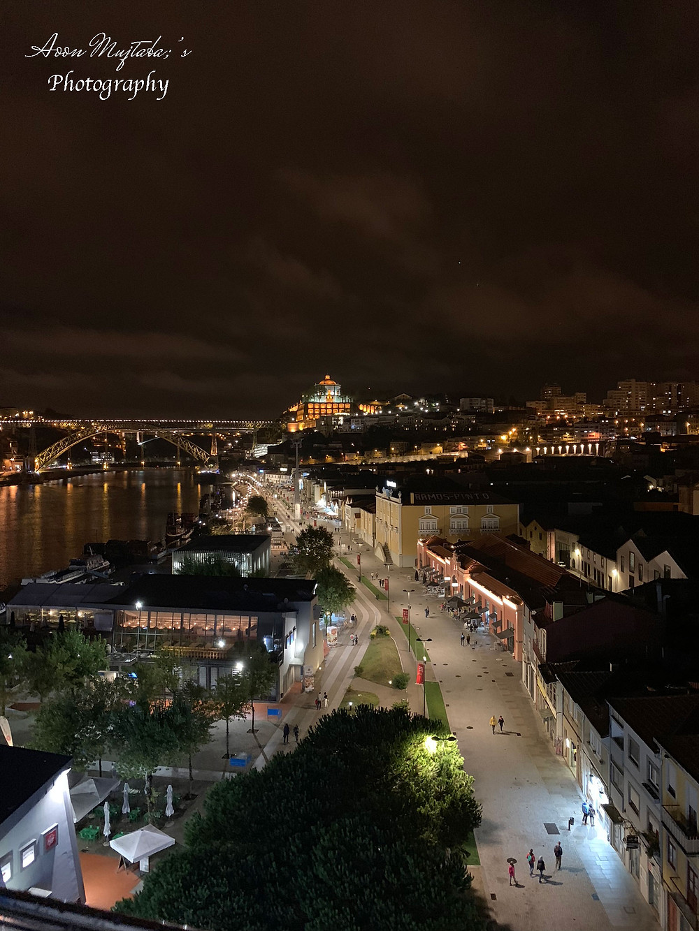 Porto Bridge Night View in Porto, Portugal