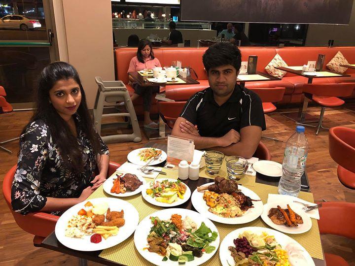Dinner in Dubai in Centro Barsha.