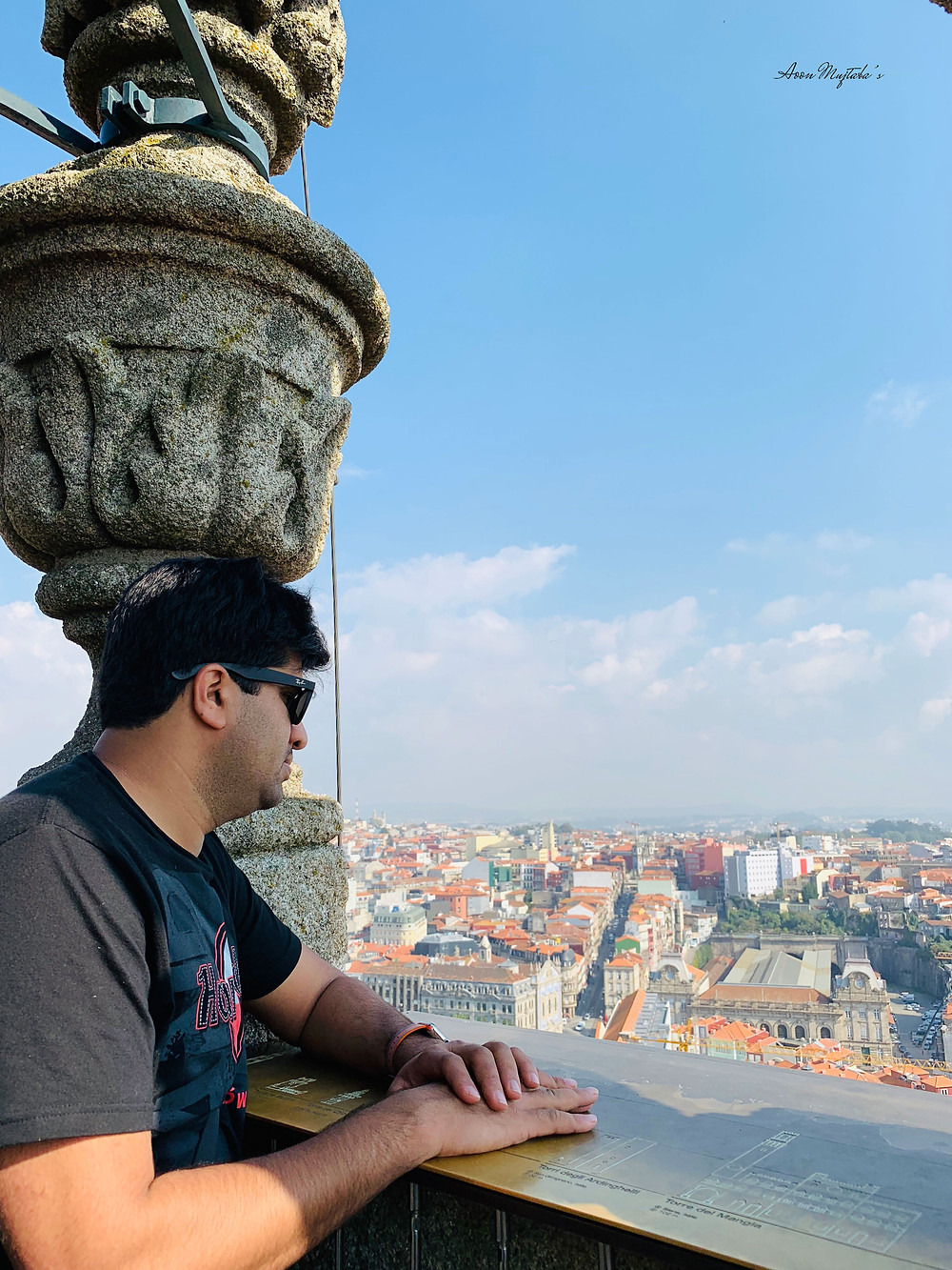 Panoramic view of Porto from Torre dos Clrigos