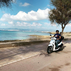 Scooter in Mallorca, Spain