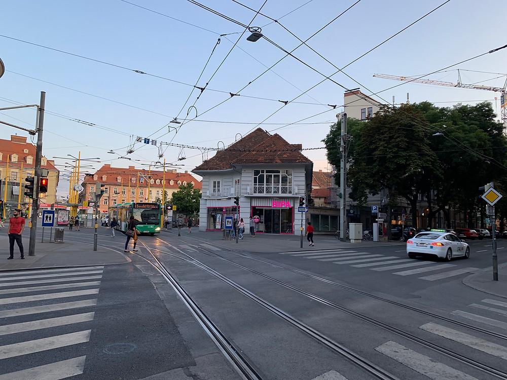 Jakominiplatz in Graz, Austria