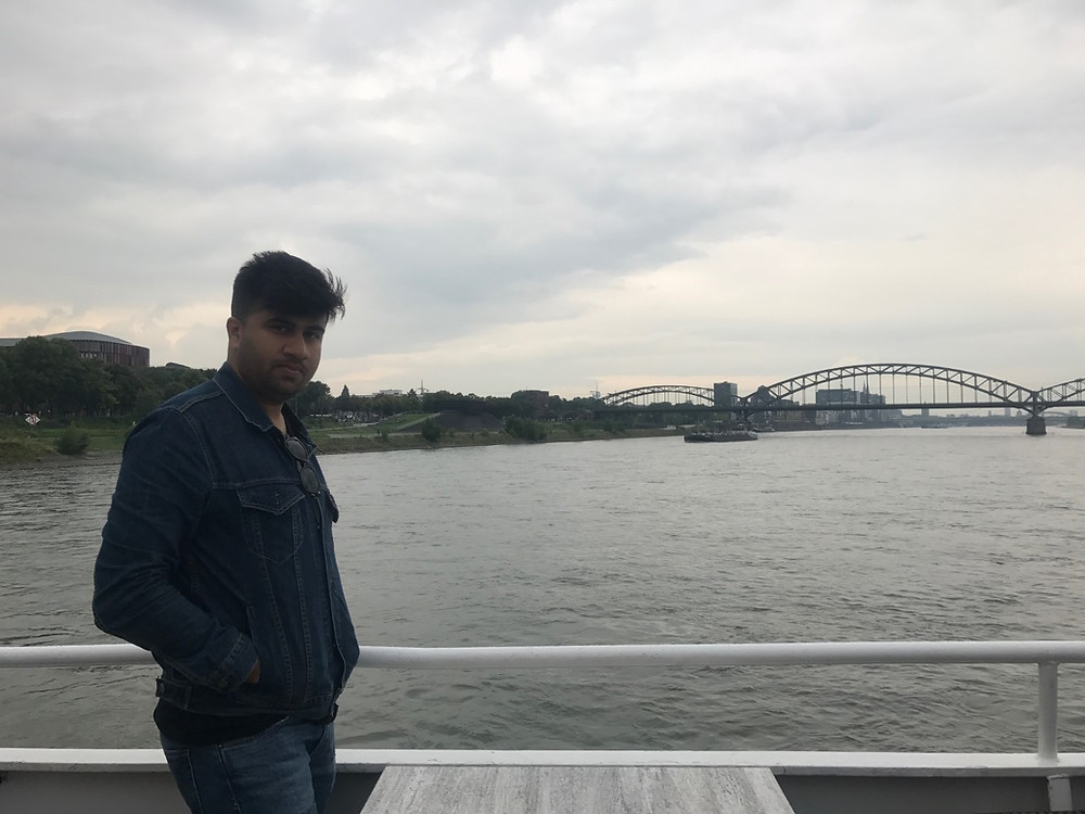 Cruise in River Rhine in Cologne, Germany