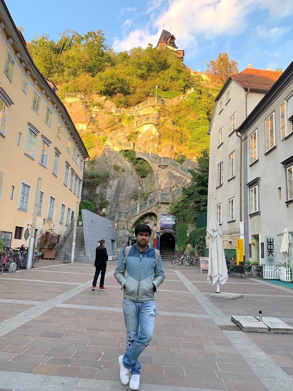 Schlossbergplatz in Graz, Austria
