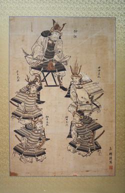 徳川四天王図(望月玉蟾作)