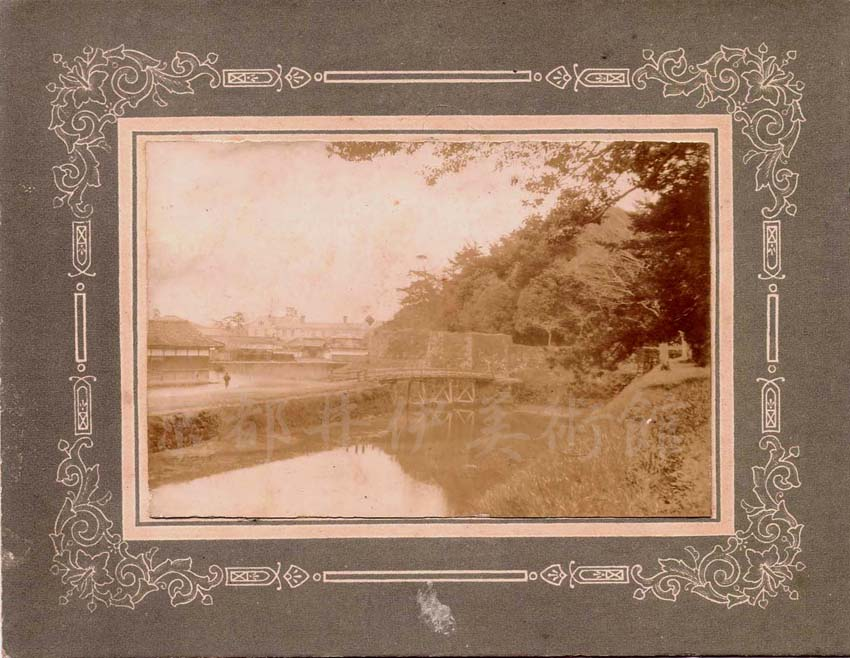 明治期彦根城古写真 - 極楽橋付近の景観