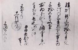 徳川家康安堵状(天正十年十一月) -井伊直政代筆-