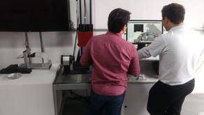 Medição 3D de prótese odontológica
