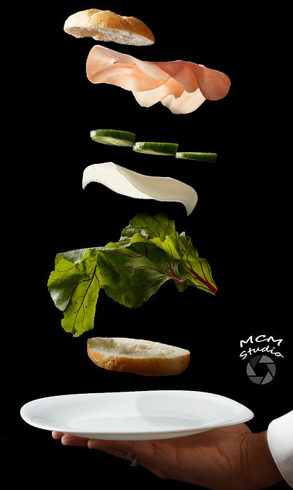 fotografia kulinarna i stylizacja kulinarna kanapka