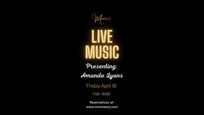 Friday April 16 | Live Music by Amanda Lyons