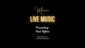 Friday June 18 | Live Music by Nick Rifken