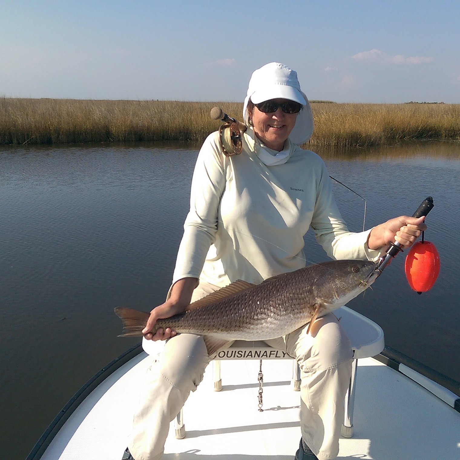 Mrs Babara with a nice Slot red caught on the Fly !!! Great job !!!