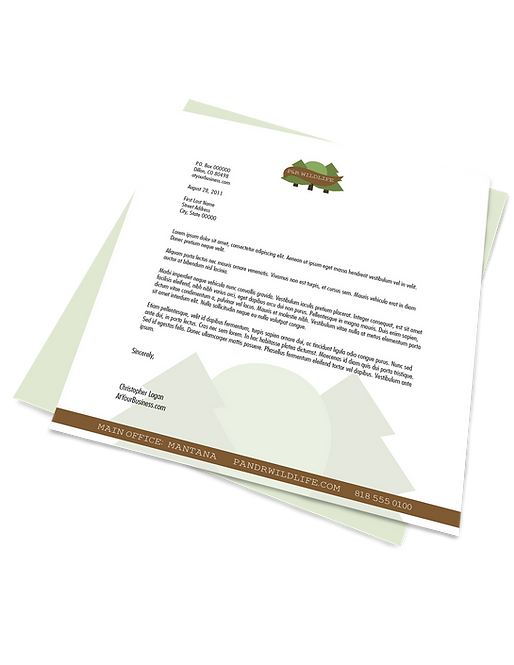 Letterhead (offset print)