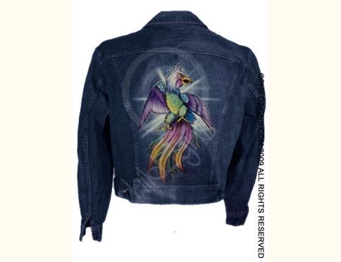 Airbrushed Denim Jacket