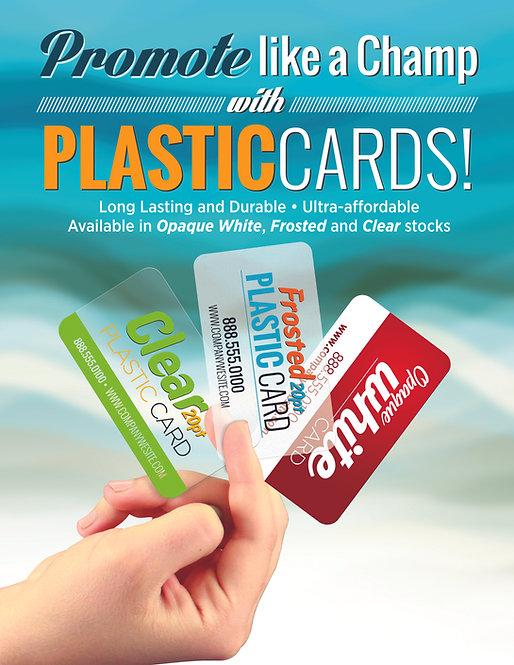 """Plastic Cards 20PT 3.5"""" x 2"""""""