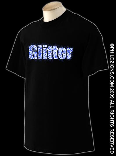 Glitter Print t-shirts
