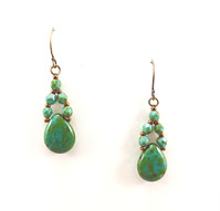 Turquoise Green Picasso Drops