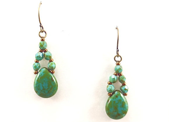 Turquoise Picasso Teardrops