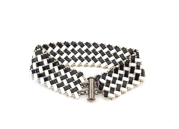 Half Tila Herringbone in Black and White