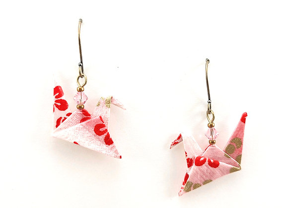 Origami Birds in Pink&Red