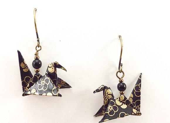 Origami Birds in Black&Gold