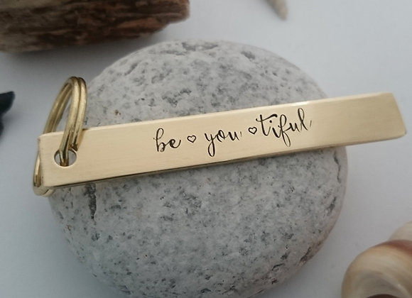 be♡you♡tiful Keyring