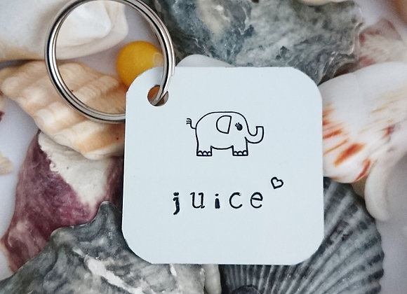 Elephant juice keyring - I love you Valentines Gift