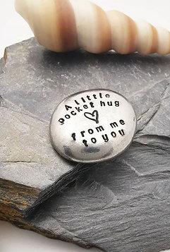 Pocket Hug - Pewter Pebble