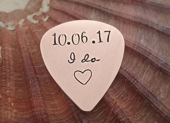 I do - Wedding Date Plectrum