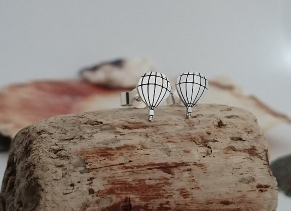 Sterling Silver Hot Air Balloon Earrings