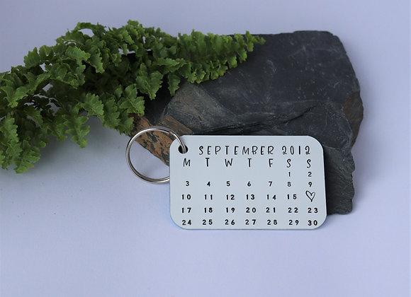 Anniversary Calendar Keyring