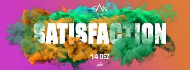 Banner da festa satisfaction
