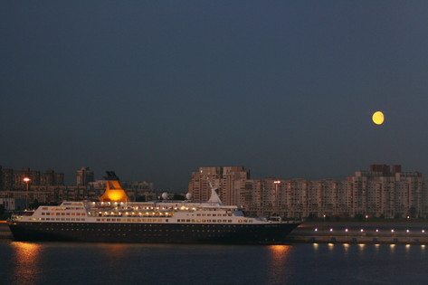 Moonrise over St. Petersburg