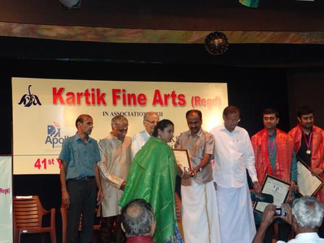 D.K. Pattammal Award, 2015